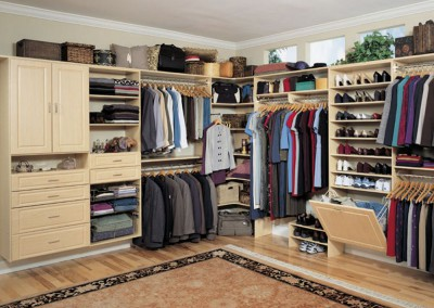 Bright Walk In Closet