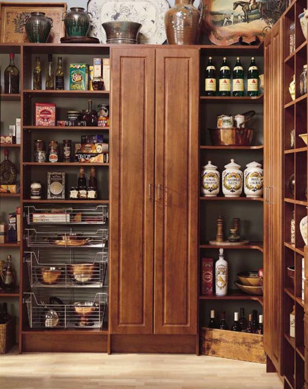 Pantry cabinet custom pantry cabinets with custom kitchen for White thin man pantry cabinet